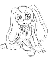 Cream the rabbit sketch by lazy-Time