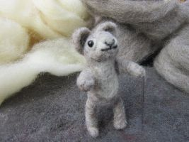 Needle Felted Mouse by Elvenartistsforest
