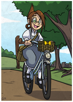 Chameleon Charm: Bicycle by forte-girl7
