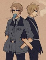 [aph] USUK in Sunglasses by mewwi12345