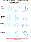 Wolf Paw Tutorial by JustAutumn