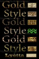 Styles for Photoshop Classic gold metal 2 by Lyotta