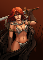 [Commission] Red Sonja by AberrantKitty