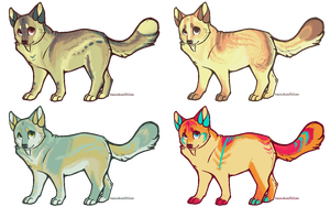 - Canine Adoptables - ONE LEFT by StellarDeer