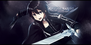 Kirigaya Kazuto 00 Signature by JamesxpGFX