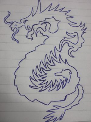 Welsh Red Dragon Tattoo red dragon tattoo something i drew