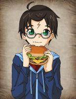 Harry Potter and the Hamburger by Glee-chan