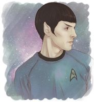 Star Trek - Colin Morgan as (young) Spock by Kumagorochan