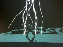 Lightning Storm papercutting by hyperaboutmucic