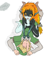Midna and Link by MidnaxLink445