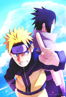 Naruto and Sasuke by Sakuritha97