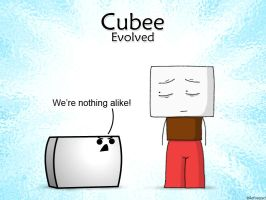Cubee and Confusedguy by ReFreezed