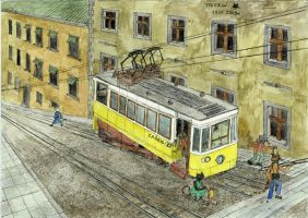 Lisbon tram part 1 by mikopol