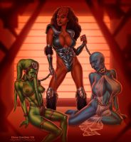 Alien Slavegirls by DrewGardner