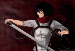 I'll cut you up again, Female Titan by Cladylove
