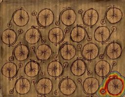 penny farthings by animalritual