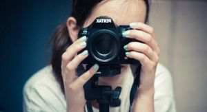 Blue nails and camera by DorottyaS