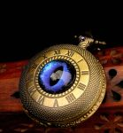 Ethereal Violet Scales Timepiece Pocket Watch by LadyPirotessa