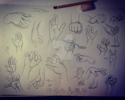 Hands practice by FairyMela