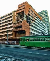 Bombed Building in Belgrade by Michela-Riva