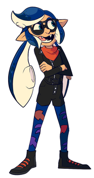 Jalea the inkling girl squid thing whatever by CrescentMarionette