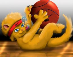 NBA Cat by TheMoonMonkey
