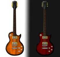 Les Paul drawing by DraconicX
