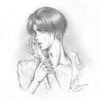 SNK - Kiss me, Levi by ChocotanYuu