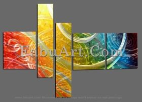 Modern Metal Wall Art Painting by Fabuart