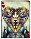 Playing Cards - King of Hearts by cynthiafranca