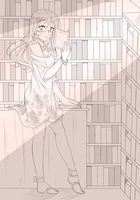 Library beauty [ SKETCH ] by Kokoro-no-Melody