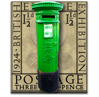 Steampunk Eric Gill Irish Postbox Icon by yereverluvinuncleber