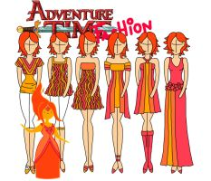 Adventure time fashion: Flame princess by Willemijn1991