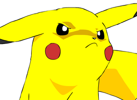 Angry Pikachu by beebarb