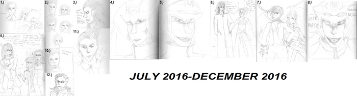 Sketchdump July 2016-December 2016 by nat-grim