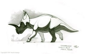 Centrosaurus by Red-Dilopho