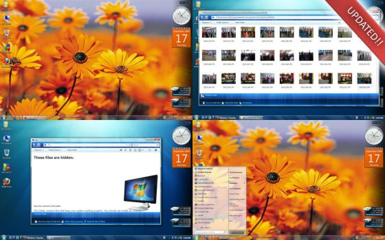 Windows 7 ClearGlass UPDATED by caeszer