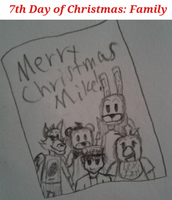 FNAF 12 Days of Christmas: Day 7 by InvaderAllieNinja
