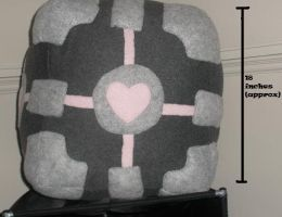 Companion Cube Plush HUGE by GlacideaDay