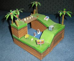 Green Hill Zone Model by DreamBex