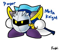 Super Paper MetaKnight by Fushidane