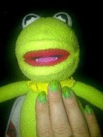 The Kermit Manicure by CarpeComma