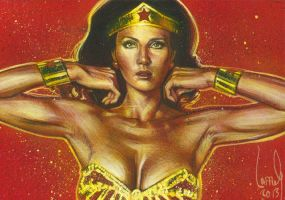 Lynda Carter as Wonder Woman by JeffLafferty