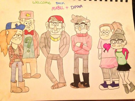 Welcome Back Mabel And Dipper by BlueSapphireLily