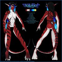 Masurao -nude ref sheet-censor by Horus-Goddess