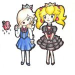 Remake: Gothic lolitas Peach and Rosalina by HomuPeachy