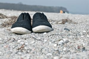 Shoes on the beach by ProbablyThePenguin