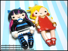 Panty and Stocking Charms by GrandmaThunderpants