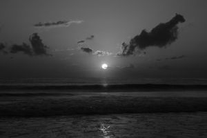 Sunrise in Black and White by JennDixonPhotography