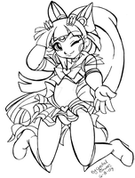 Sailor Blossom SKETCH by Crystal-for-ever